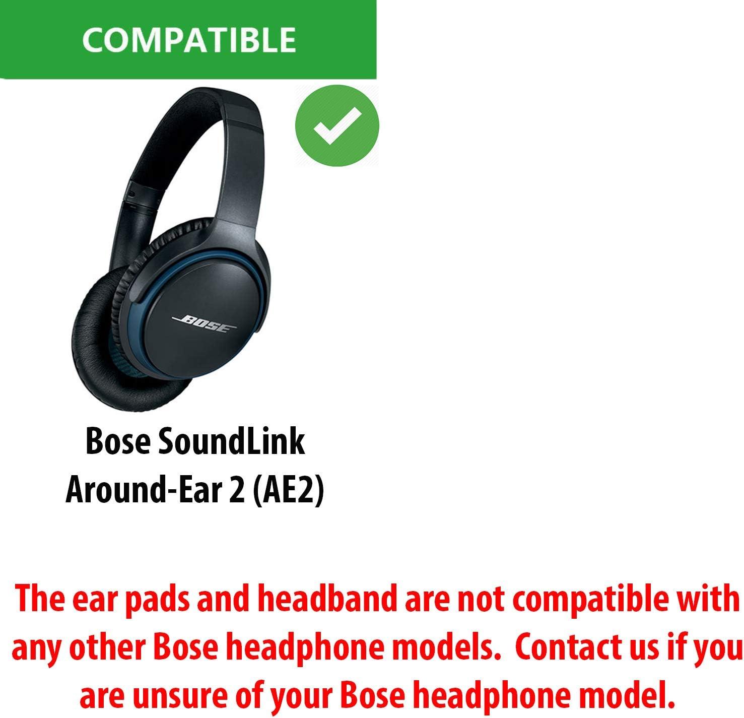 Sostituzione Ear Pad e fascia cuscino Pad per cuffie BOSE Soundlink around ear 2 (Flip, nero)