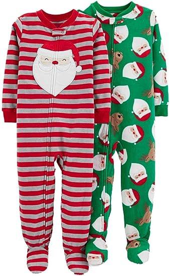 Carters Baby Boys 1-Piece Baby Christmas Fleece Pajama Blanket Sleeper 2T Green