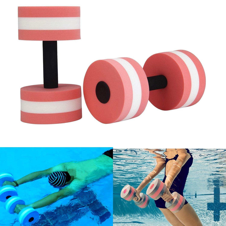 PDFans Aqua Dumbbells Fitness EVA Foam Dumbbells Water Exercises Pool Equipment 2PCS