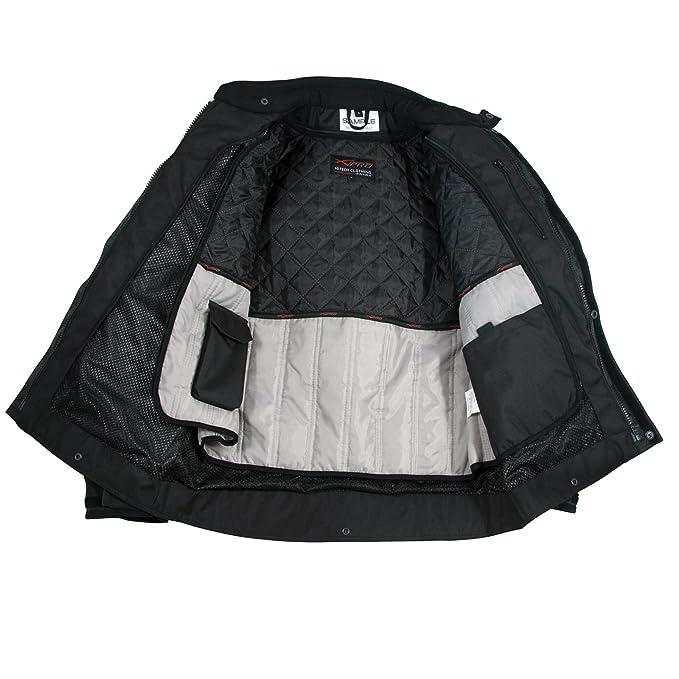 Giacca Impermeabile Moto Tessuto Protezioni CE Scooter Viaggio Fluo M