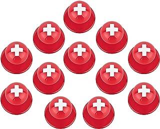 DESERMO 12x Kugelknöpfe für Kochjacken Länder Motive I Kochjackenknöpfe Länder Flaggen und Fussball Knöpfe