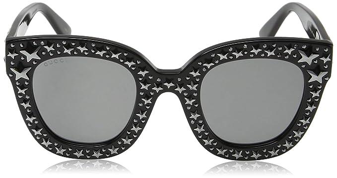 8fedab2108 Amazon.com  Gucci GG 0116 S- 002 BLACK   SILVER Sunglasses  Clothing
