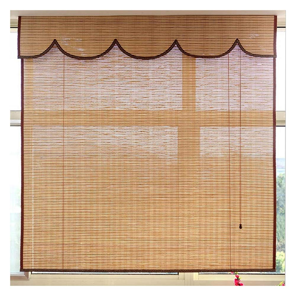 LIANGJUN 竹ロールスクリーン竹はウィンドウシェードを竹すだれ竹製カーテンパーティション 背景の壁 デコレーション 炭化プロセス バルコニー 寝室 ティールーム - レストラン (色 : A, サイズ さいず : 120x200cm) 120x200cm A B07SF56KYR
