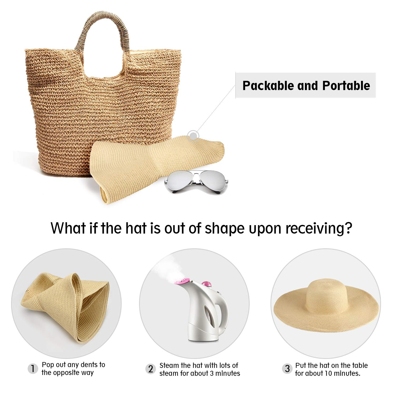 Women Straw Beach Sun Hats Foldable /& Adjustable Dafunna Summer Ladies Sun Hat Wide Brim Girl Sun Hat UV Protection