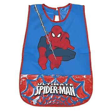 PERLETTI Delantal Infantil Marvel Spiderman - Bata Escolar Impermeable para Niño con Bolsillo Delantero con el Hombre ...