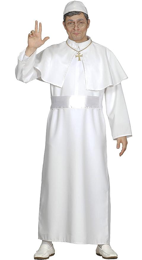 Fiestas Guirca Costume da Papa Uomo tonaca Bianca Misura Unica ... 32e31c885f8