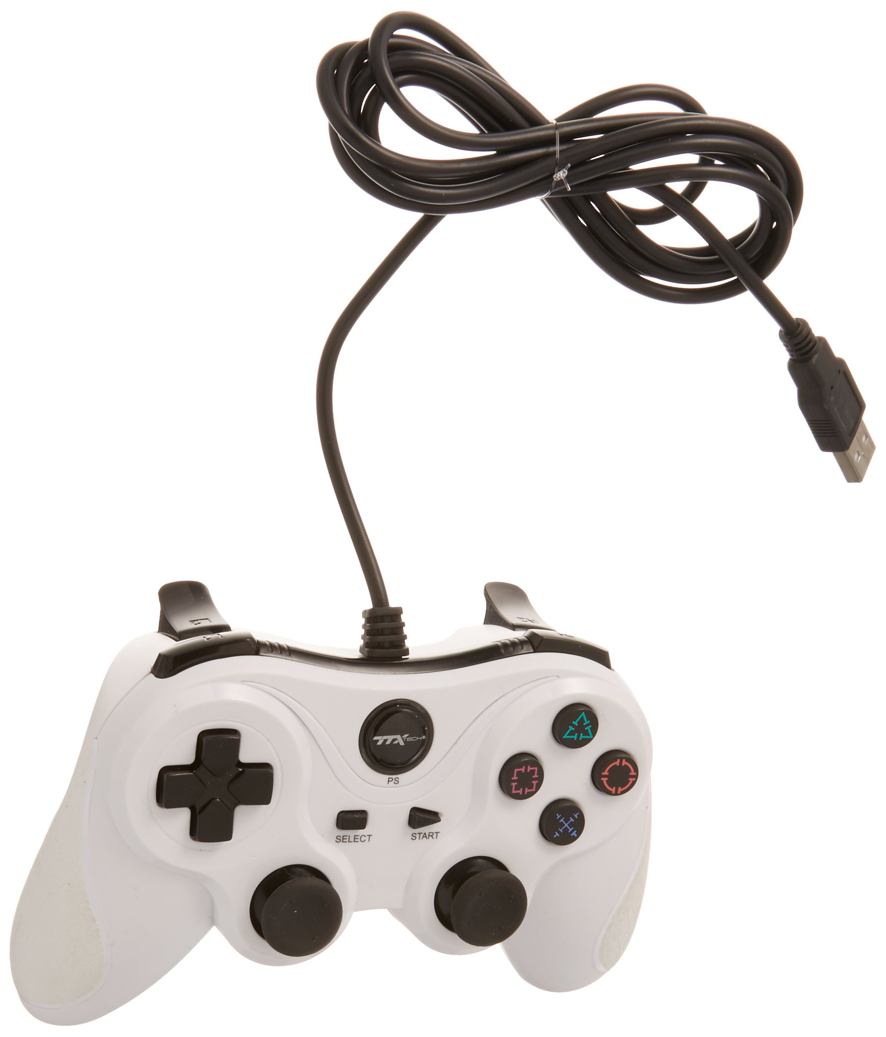 TTX PS3 Wired USB Controller - White
