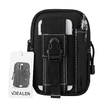 Bolsa de cintura, vdealen táctico Molle bolsa utilidad EDC Gadget cinturón cintura bolsa con funda de teléfono móvil soporte para correr senderismo ...