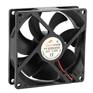 uxcell 92mm x 92mm x 25mm 24V DC Cooling Fan Long Life HY Bearing Computer Case Fan