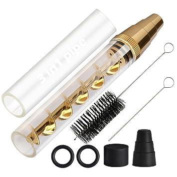 Lige cristal Blunt Blunt trenzado tubo Mini Kit de oro, tubo de vidrio nuevo Blunt
