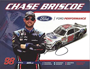 AUTOGRAPHED 2019 Chase Briscoe #98 Ford Performance (Stewart-Haas Racing) Xfinity Series Signed Collectible Picture NASCAR 9X11 Inch Hero Card Photo with COA