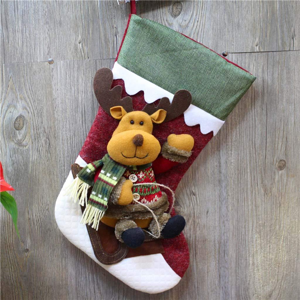 VGRASS Venta De Decoraciones Navideñas No Tejido Calcetines De Navidad Bolsos Grandes De Regalo De Dulces Navideños para Niños: Amazon.es: Hogar