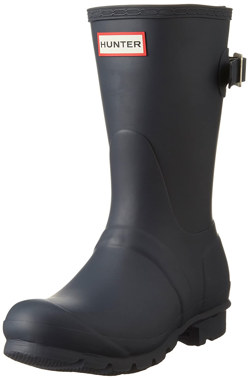 Hunter Women's Original Short Back Adjustable Rain Boot B00WZY7U66 5 B(M) US|Navy