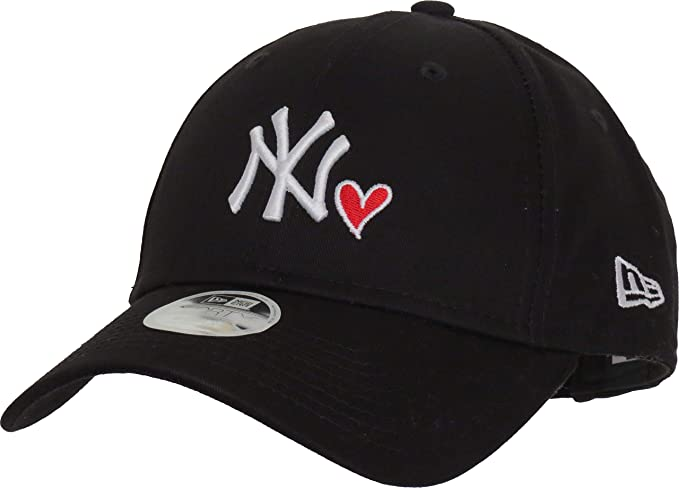f1cbba396b0 New Era Hats 940 New York Yankees Baseball Cap - Heart - Black Adjustable