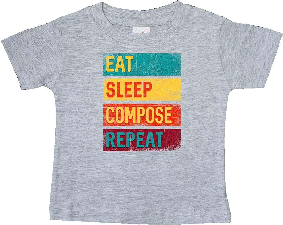 inktastic Composer Eat Sleep Compose Repeat Baby T-Shirt