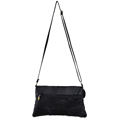 Ladies Leather Shoulder Bag   Cross Body Bag with Fold over Flap ... 41f0500a290da