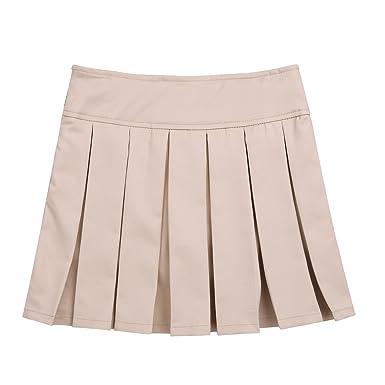 Agoky Falda Plisada para Niñas Falda Uniforme Escolar Falda de Tenis  Deporte Cintura Alta Mini Faldas Pantalón Corta para Chicas Casual(4-14  Años)  ... 0a44b8c77853