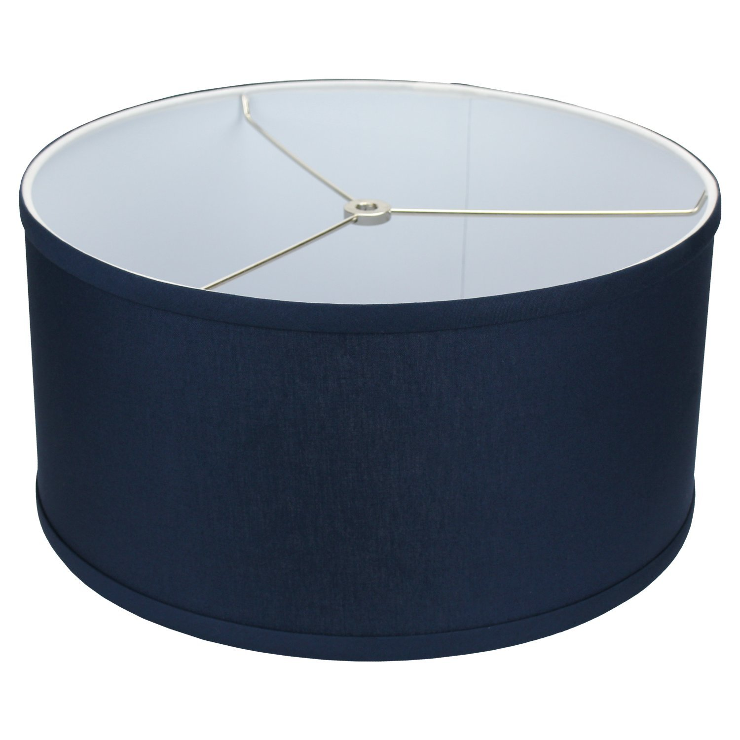 FenchelShades.com 14'' Top Diameter x 14'' Bottom Diameter 7'' Height Cylinder Drum Lampshade USA Made (Navy) by FenchelShades.com