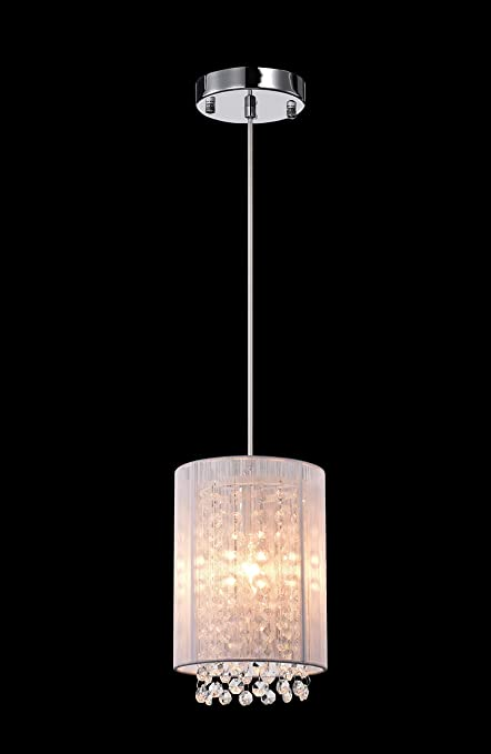 Amazon lalula crystal pendant lighting 1 light modern ceiling lalula crystal pendant lighting 1 light modern ceiling lights kitchen island chandelier mozeypictures Image collections