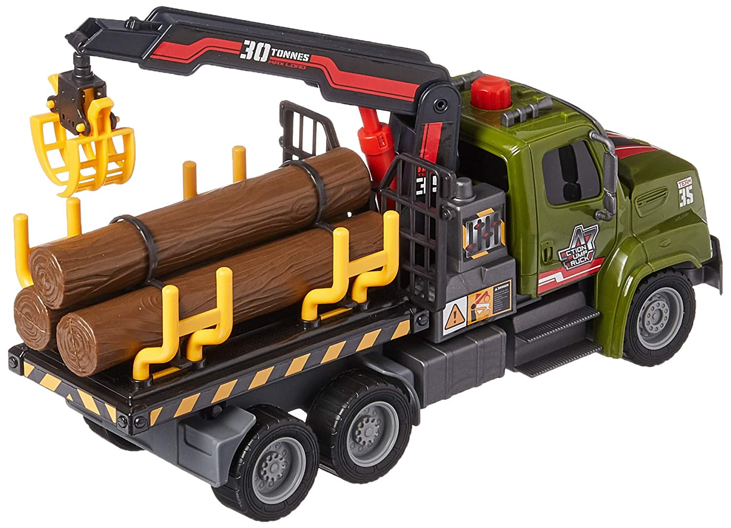 Dickie Toys 12 Air Pump Action Logging Truck Vehicle