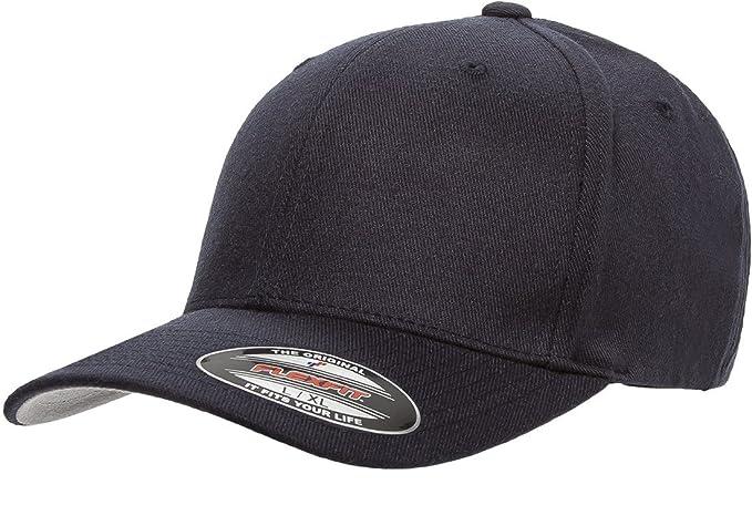 e80bea5dc04e14 Amazon.com: Flexfit 6477 Wool Blend Cap - Large/X-Large (Dark Navy ...