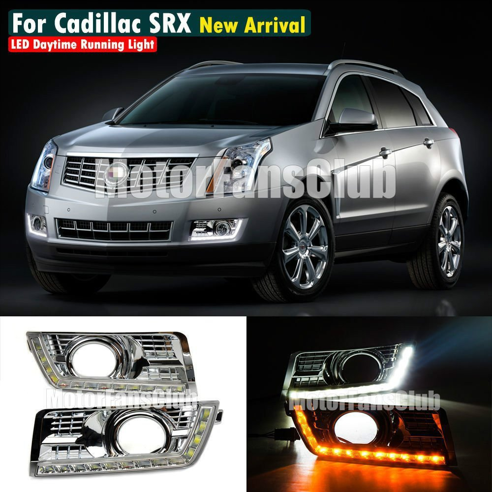 MotorFansClub Signal LED Daytime Running Light DRL Fog Lamp for Cadillac SRX SUV 2010-2014