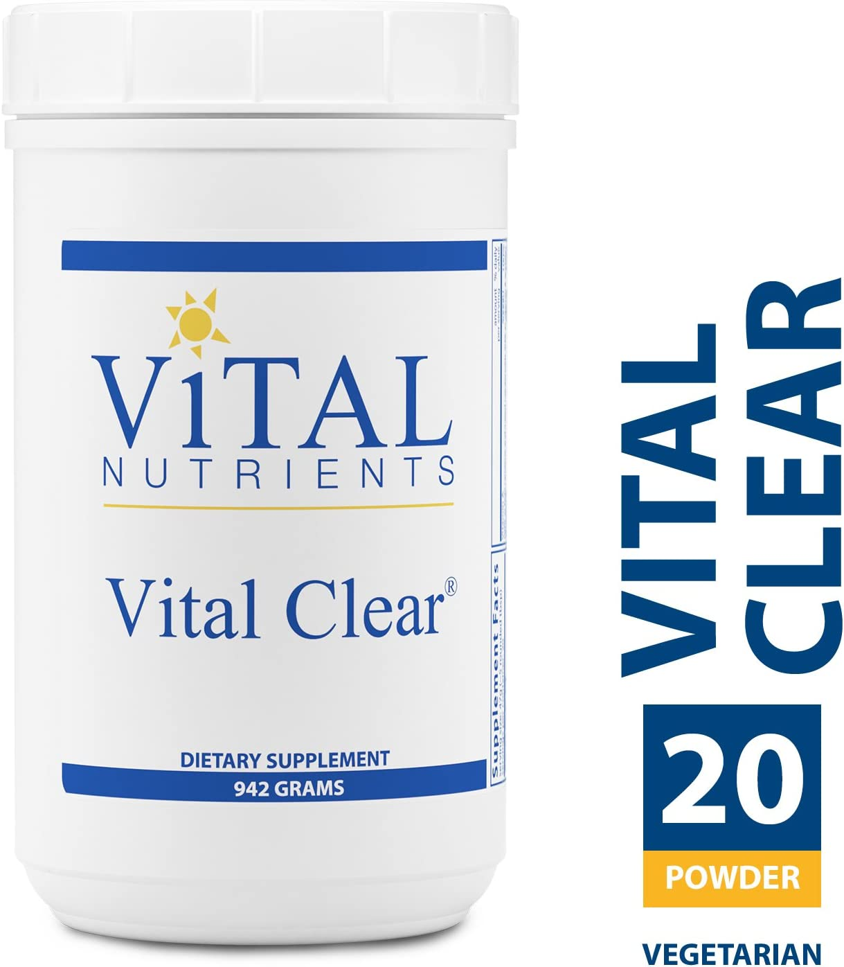 Vital Nutrients – Vital Clear – Nutritional and Herbal Support for a Healthy Inflammatory Response, Maintaining Healthy Blood Sugar Levels, and Promoting Detoxification – Vegetarian – 942 Grams