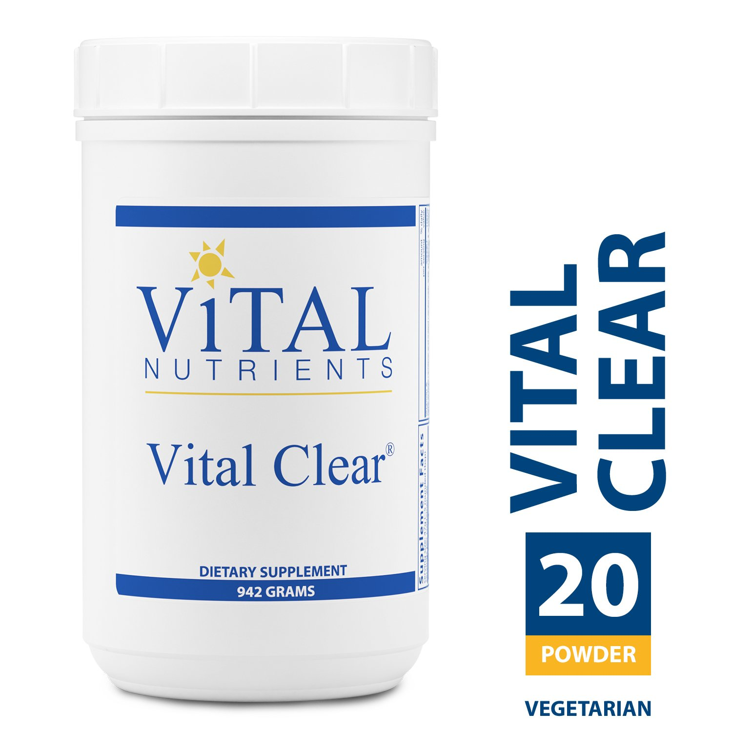 Vital Nutrients - Vital Clear - Nutritional and Herbal Support for a Healthy Inflammatory Response, Maintaining Healthy Blood Sugar Levels, and Promoting Detoxification - Vegetarian - 942 Grams