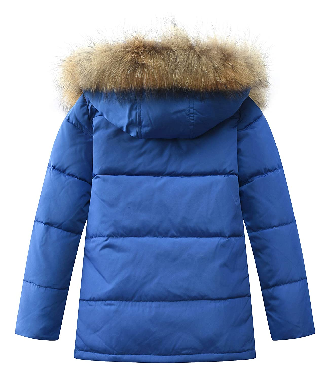 Mallimoda Big Boys Hooded Bubble Jacket Heavyweight Solid Puffer Coat