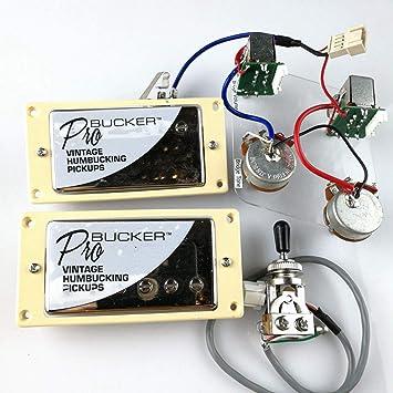 Amazon com: 1 Set ProBucker Alnico Bridge&Neck Pickups with Pro