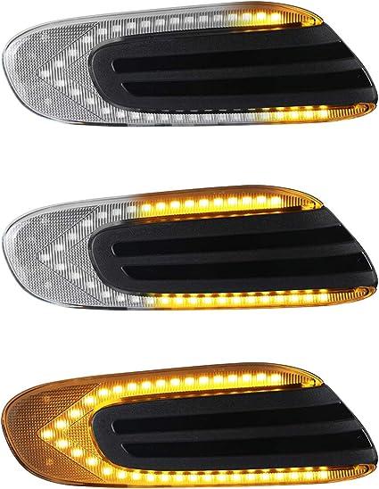 Oz Lampe Led Dynamische Led Seitenblinker Blinker 2 X Bernstein 36 Smd Mit Nicht Polarität Can Bus Fehlerfrei Oe Buchse Klar Für Mini Cooper F54 F55 F56 F57 2014 2020 Auto