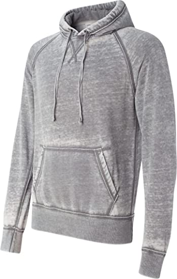 50a68dbca0c J. America Vintage Distressed Pullover Hooded Sweatshirt - Cement Gray  (Small