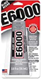 Eclectic Products 237039 2 Pack E6000 Multipurpose Adhesive, Black, 2-Ounce