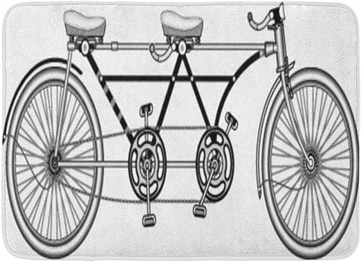 Soefipok Alfombra de baño Doble de Bicicletas Retro tándem de la ...
