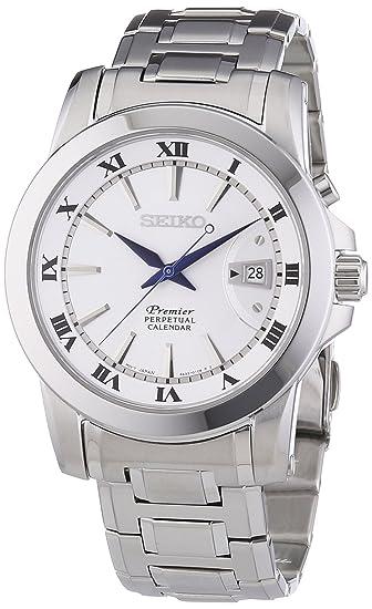 Seiko Premier Perpetual Calendar - Reloj, correa de acero inoxidable: Amazon.es: Relojes