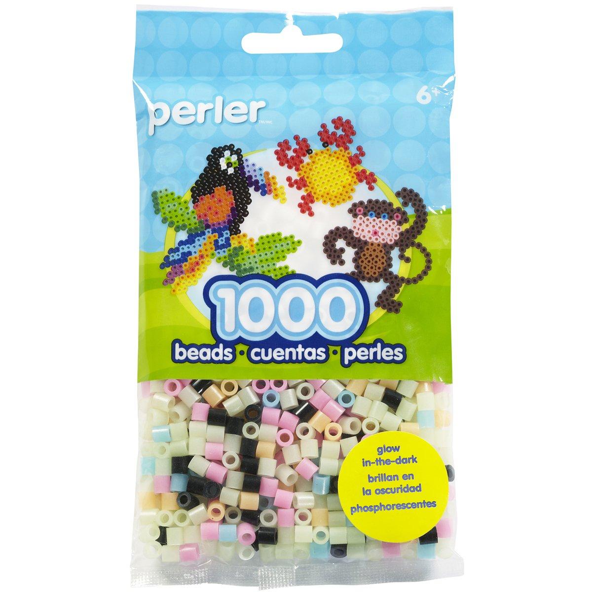 Canutillos beads 1000 u. multicolor brilla en la oscuridad