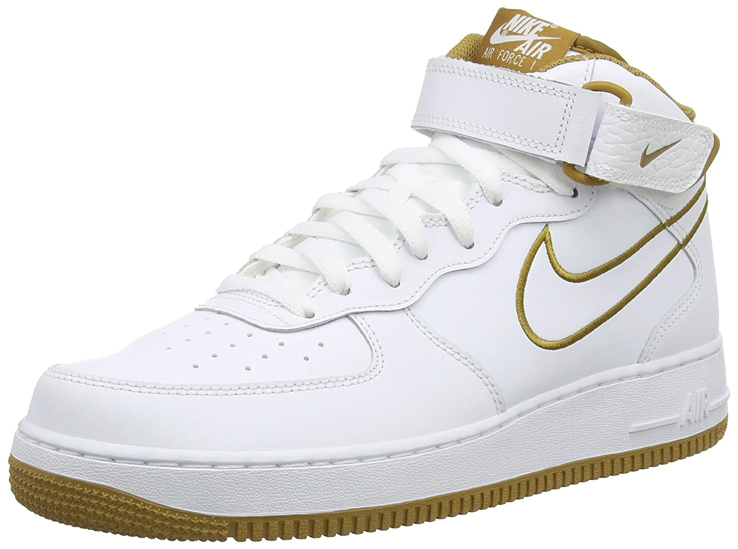 Nike Air Force 1 Mid '07 Leather Men's Shoes WhiteMuted Bronze aq8650 101