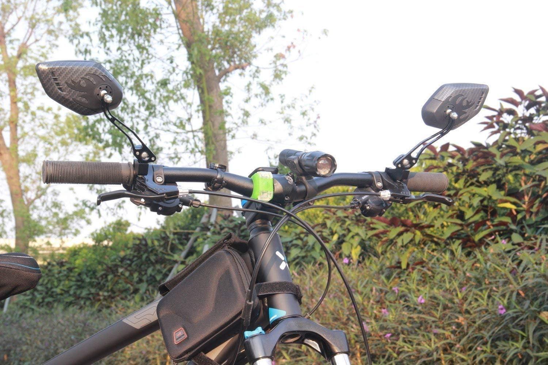 Two PCS HD,Blast Black 1 Pair LX LERMX Bike Mirrors Upgraded Version