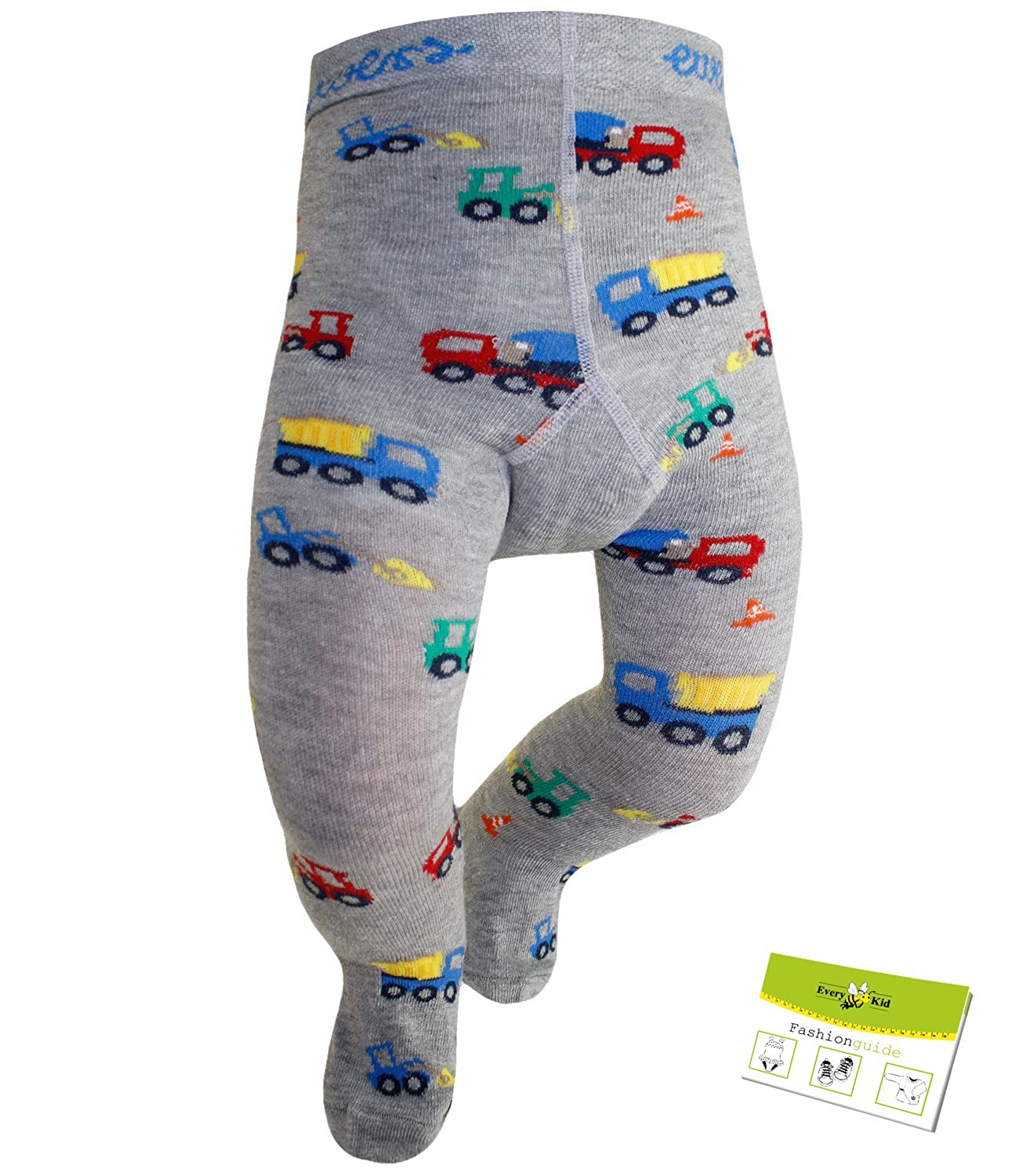 Ewers Boys Pantyhose Tights Brand Toddler Baby Building Site With Butt Motif For Children (EW-905008-S17-JU1) incl. EveryKid-Fashionguide
