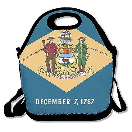 Amazon.com: Zofmkgdji SWDGYW36 Delaware State Flag Lunch Bag ...
