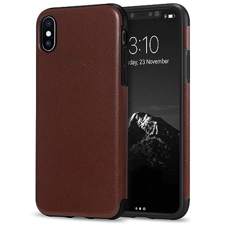 coque iphone x marron silicone