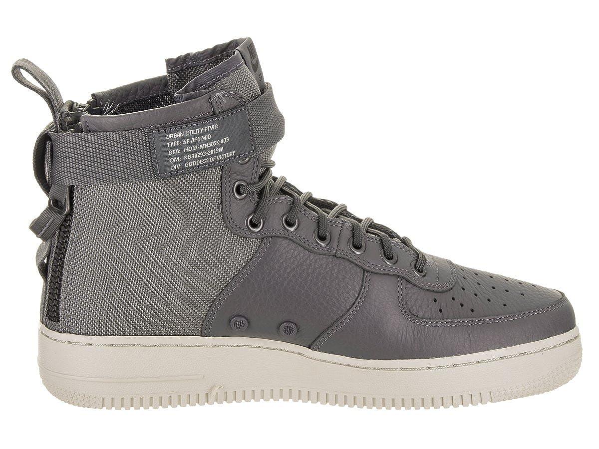 Nike Herren Herren Herren SF Air Force 1 Mid Schwarz Leder Synthetik Turnschuhe B077MHKPV2  67d46e