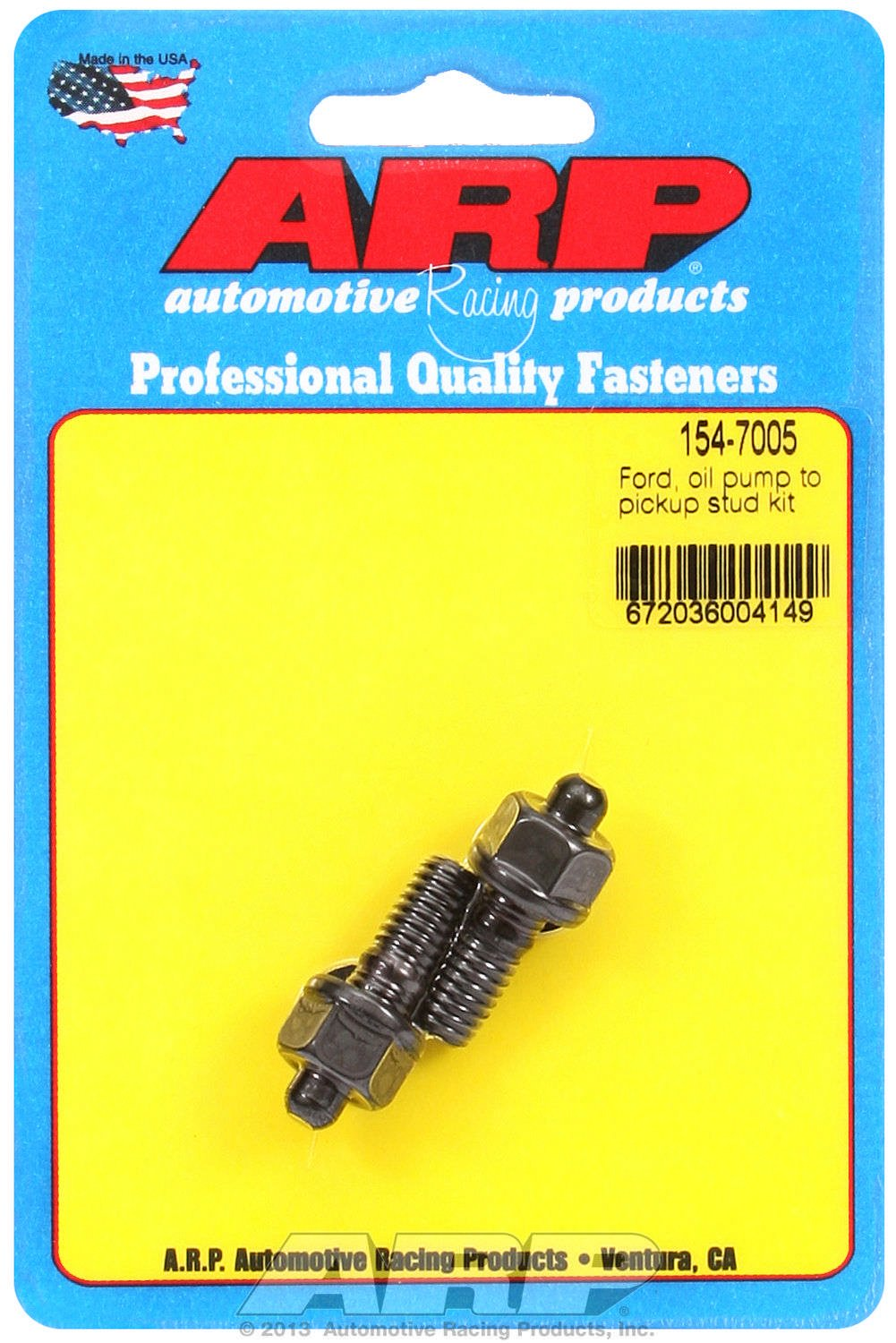 ARP 1547005 Black Oxide Oil Pump Hex Bolt Kit 154-7005