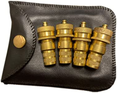 Adjustable Tire Deflators, Set of 4, 6-30Psi, Leather Pouch