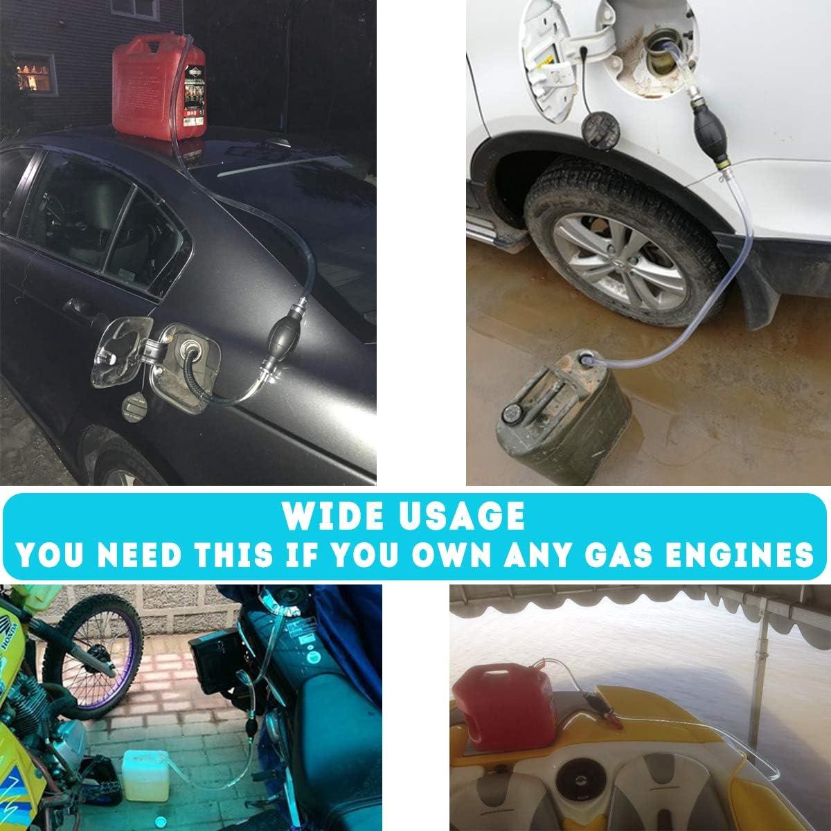 Syphon Pumps Siphon Hose for Gasoline Fluid Fuel Diesel Transfer Pump,2 Durable Pvc Transfer Hoses Gasoline Siphon Hose Pump Siphon Pump Gas Transfer Oil Water Fuel Gas Siphon Hand Pump Siphon Pump