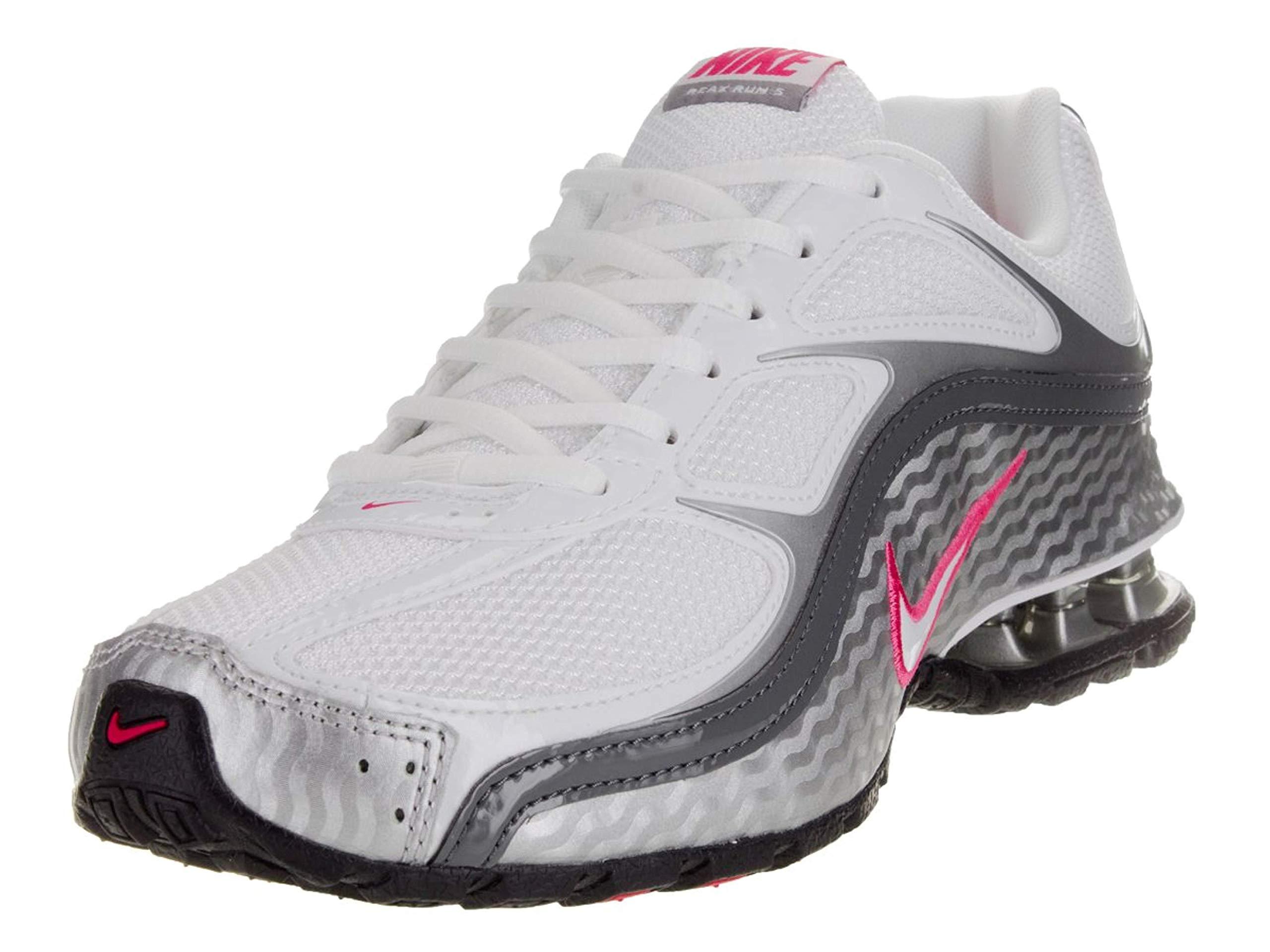 Nike Women's Reax Run 5, Running Shoes Size 9. White/Metallic Silver/Dark Grey. by Nike