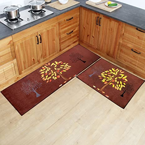 HEBE Extra Large Kitchen Rugs 2 Piece Set Non Slip Kitchen Mat And Runner  Rug