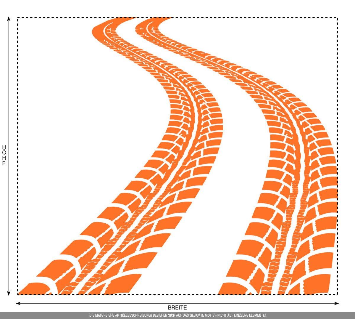 CLICKANDPRINT Aufkleber » Reifen-Spuren, Reifen-Spuren, Reifen-Spuren, 120x103,7cm, Schwarz • Wandtattoo   Wandaufkleber   Wandsticker   Wanddeko   Vinyl B01MY1S6WJ Wandtattoos & Wandbilder 1d9e5c