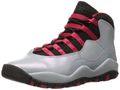86e092e456ed5e Jordan Girl s Retro 10 (Gs) Wolf Grey black-legion Red 487211-