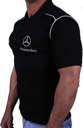 Mercedes BORDADO T-SHIRT COLLAR LOGO Benz AMG Hombre ...